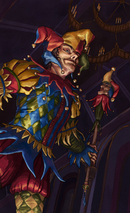 Twilight Arcana Jester Card