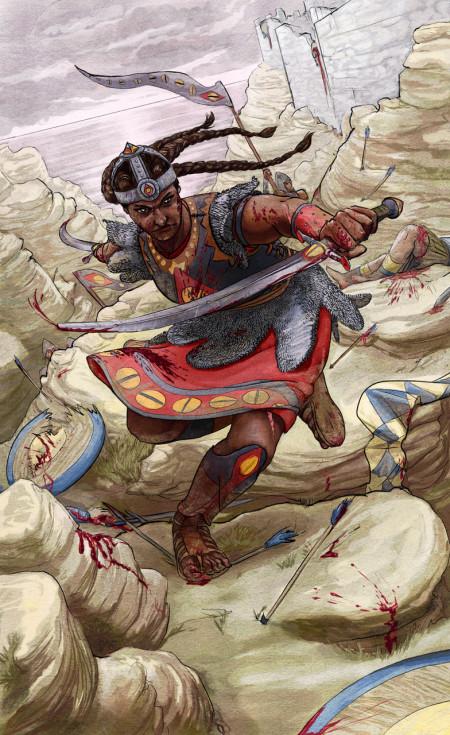 Twilight Arcana Warrior Queen Illustration