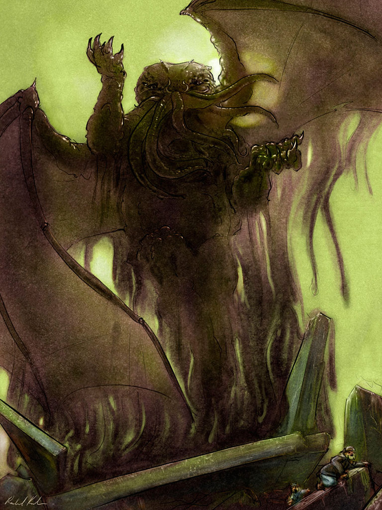 Cthulhu Rising Illustration for Call of Cthulhu