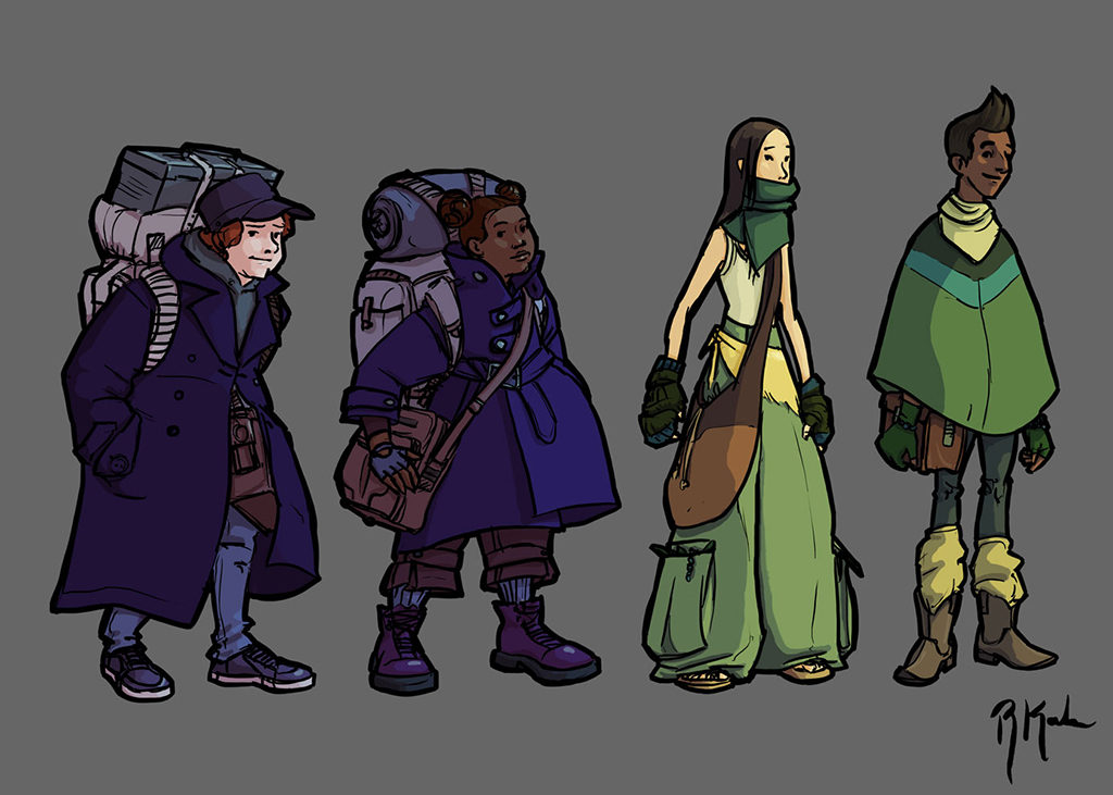 Character Design Lineup : Urban fantasy character designs portable city