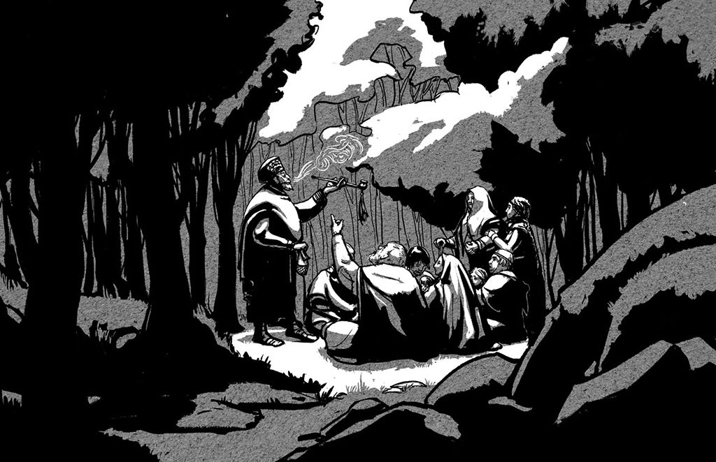 Forest Gathering Illustration for Circle of Hands