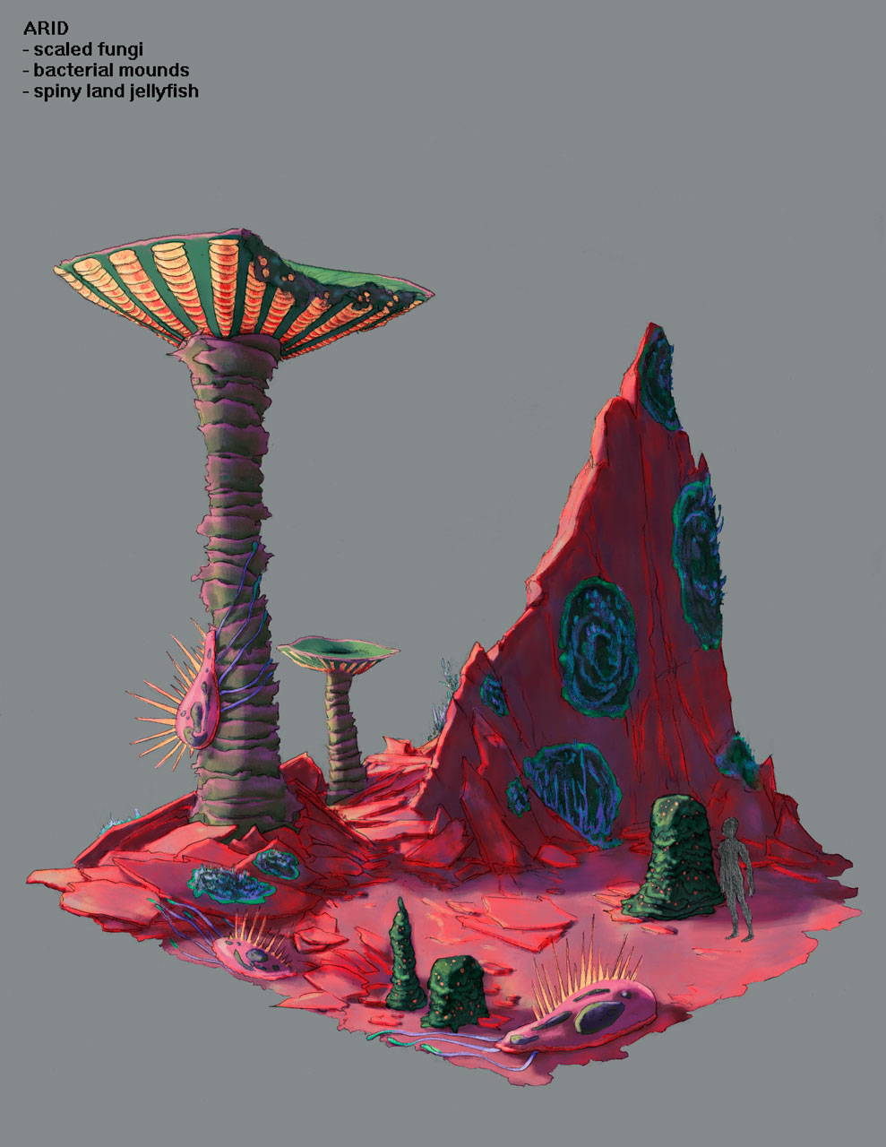 Arid Environment Design Concept Art for Pillar of Fire