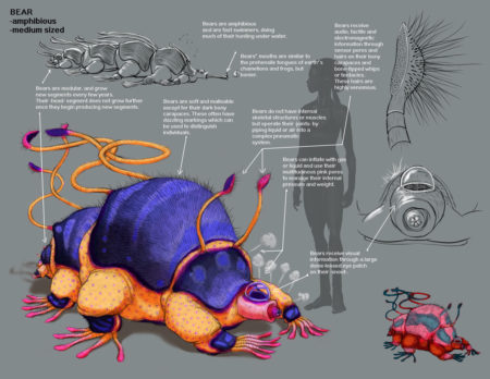 Amphibious Creature Design for Pillar of Fire