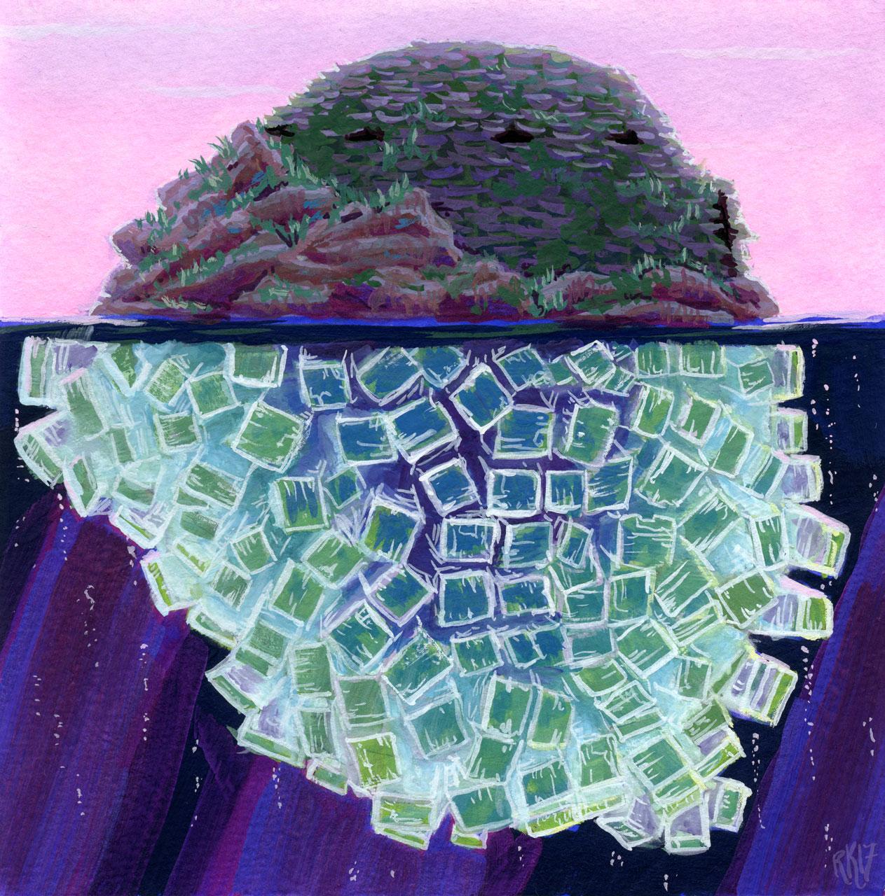 Apophyllite Crystal Island