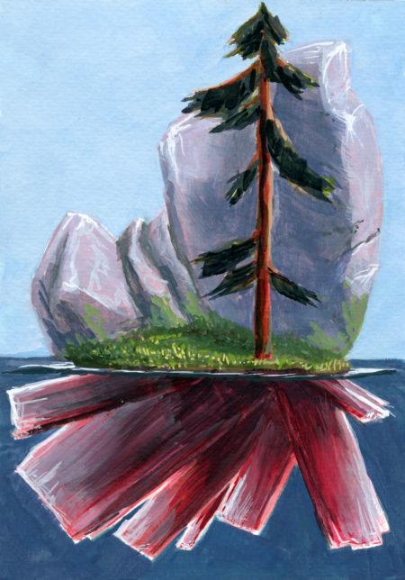 Lone Tree Crystal Island