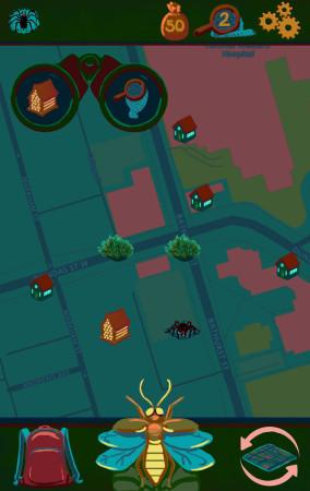 Night Bugs Map Screen