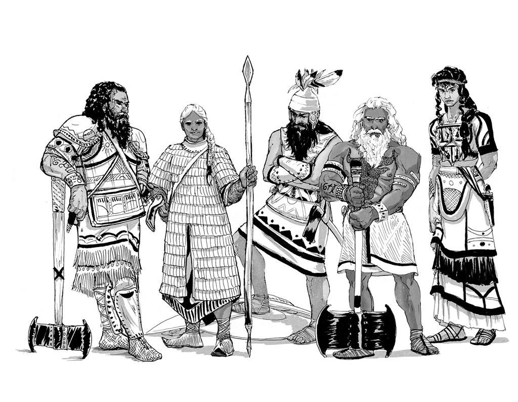Character Illustrations from Glorantha's The Coming Storm