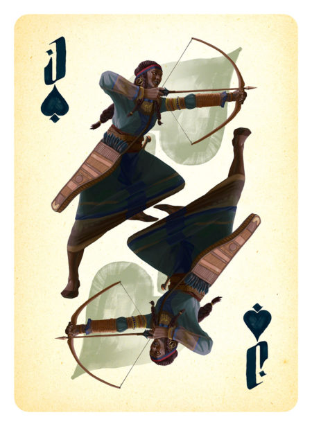 Jack of Spades Card Illustration for Project: Dark