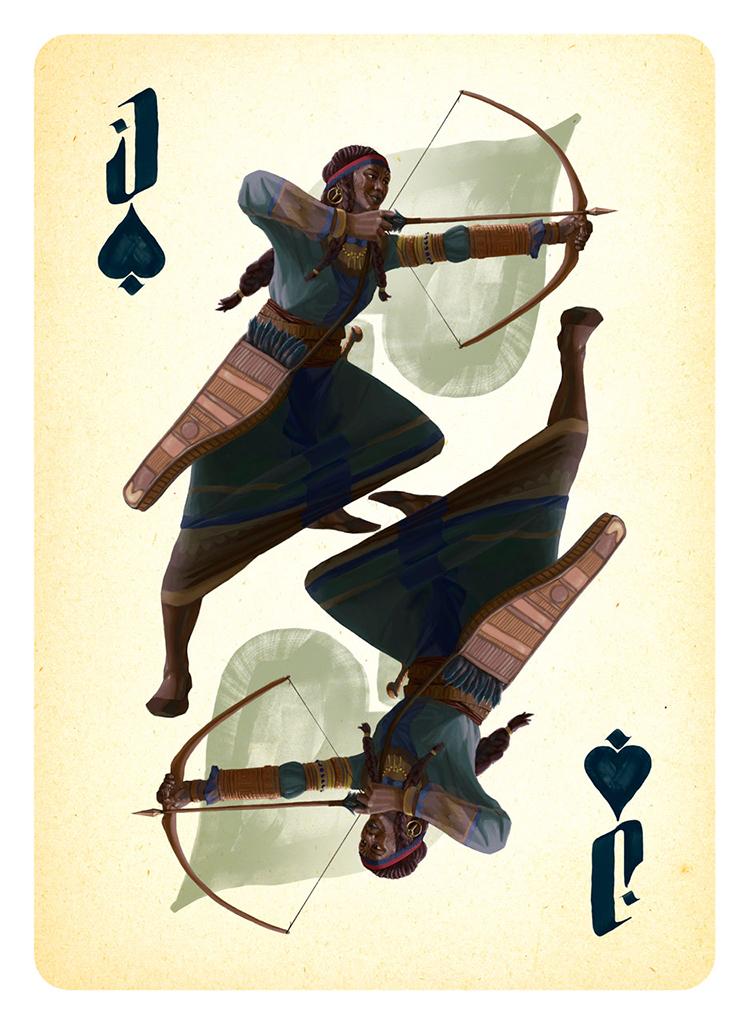 Jack of Spades Card Illustration for Project: Dark