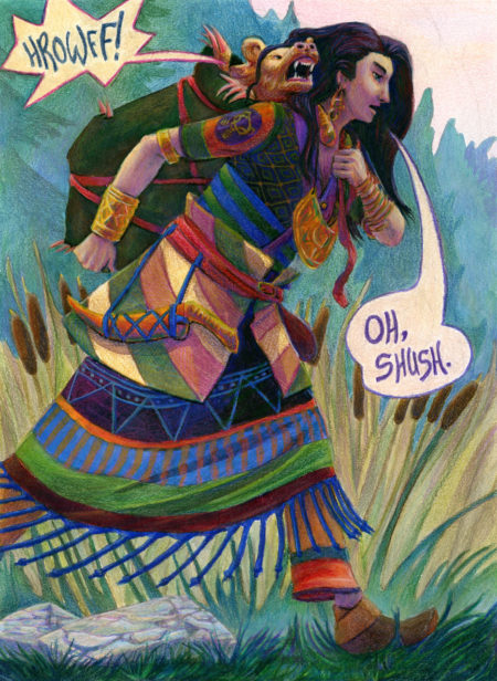 Fantasy Illustration - The Golden Bear