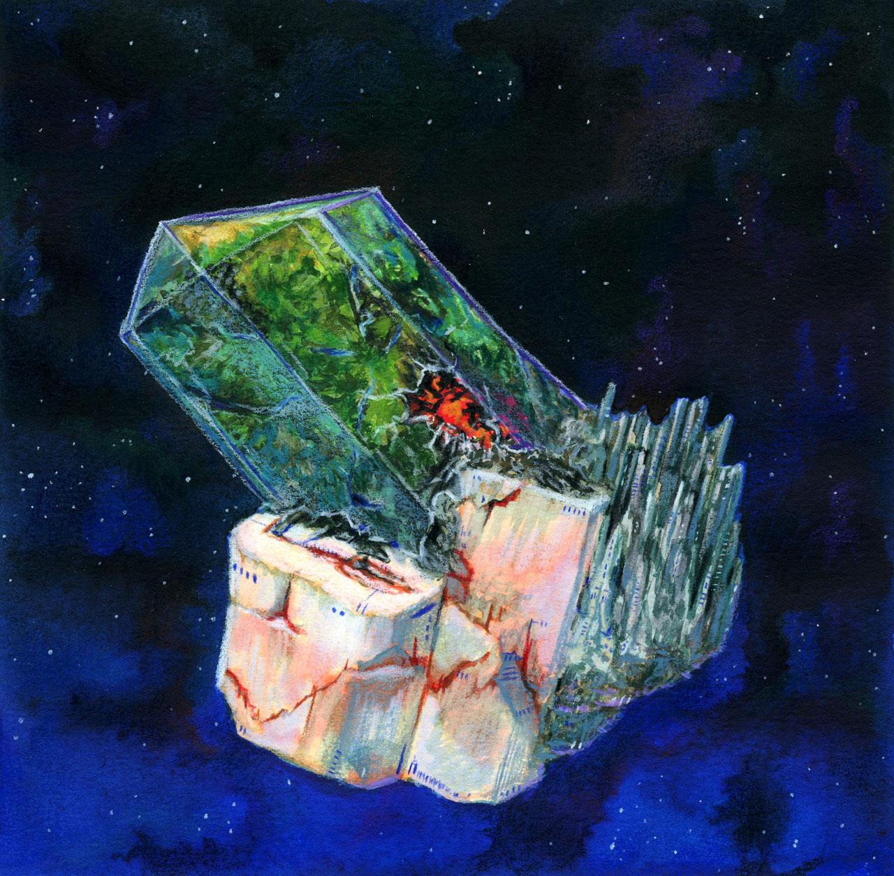 Crystal Generation Ship