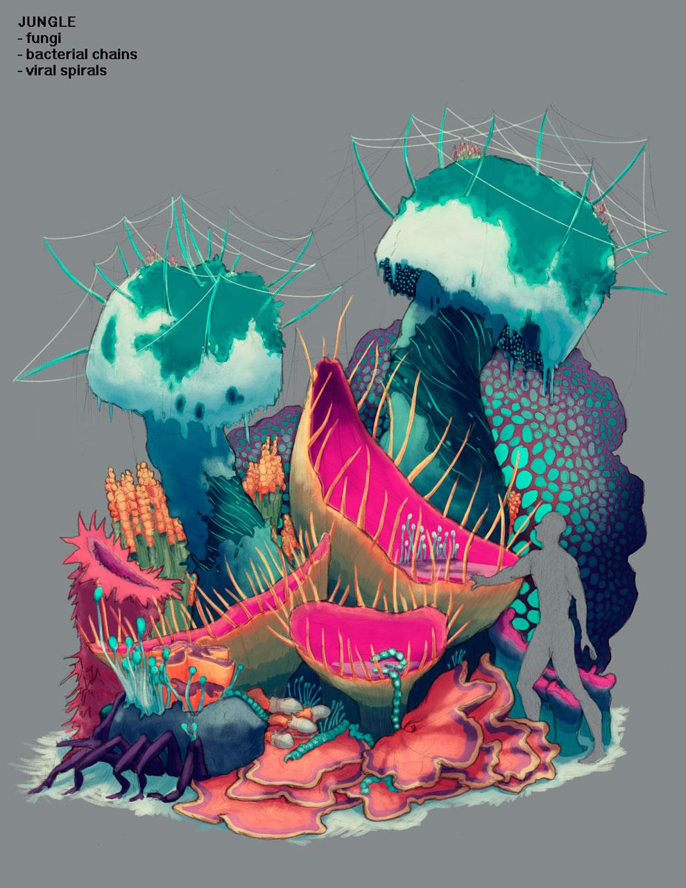 Jungle Environment Design Concept Art for Pillar of Fire