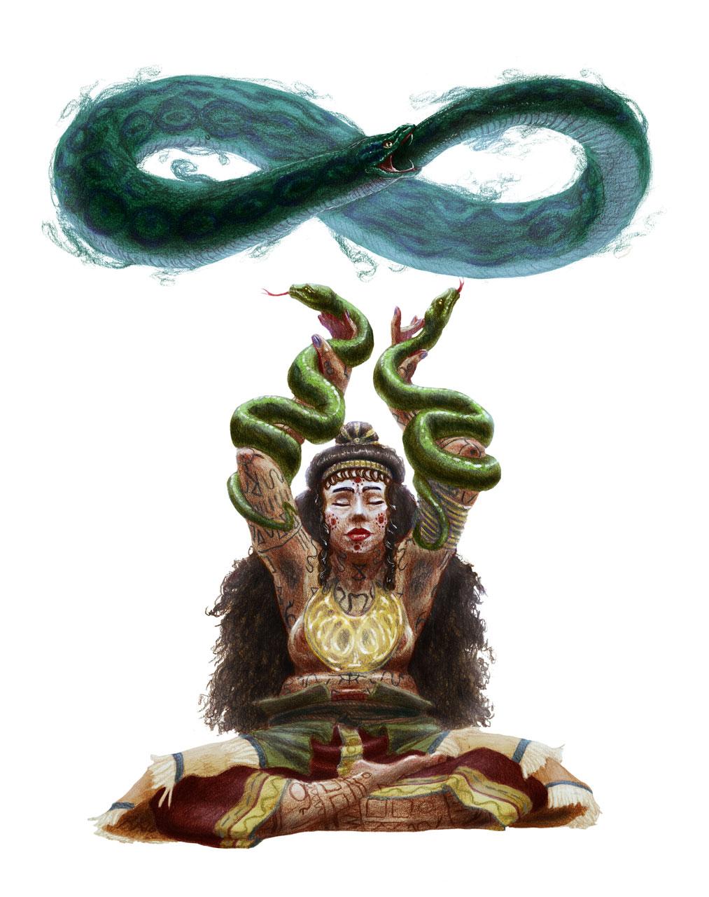 Sacred Loop Snake Illustration