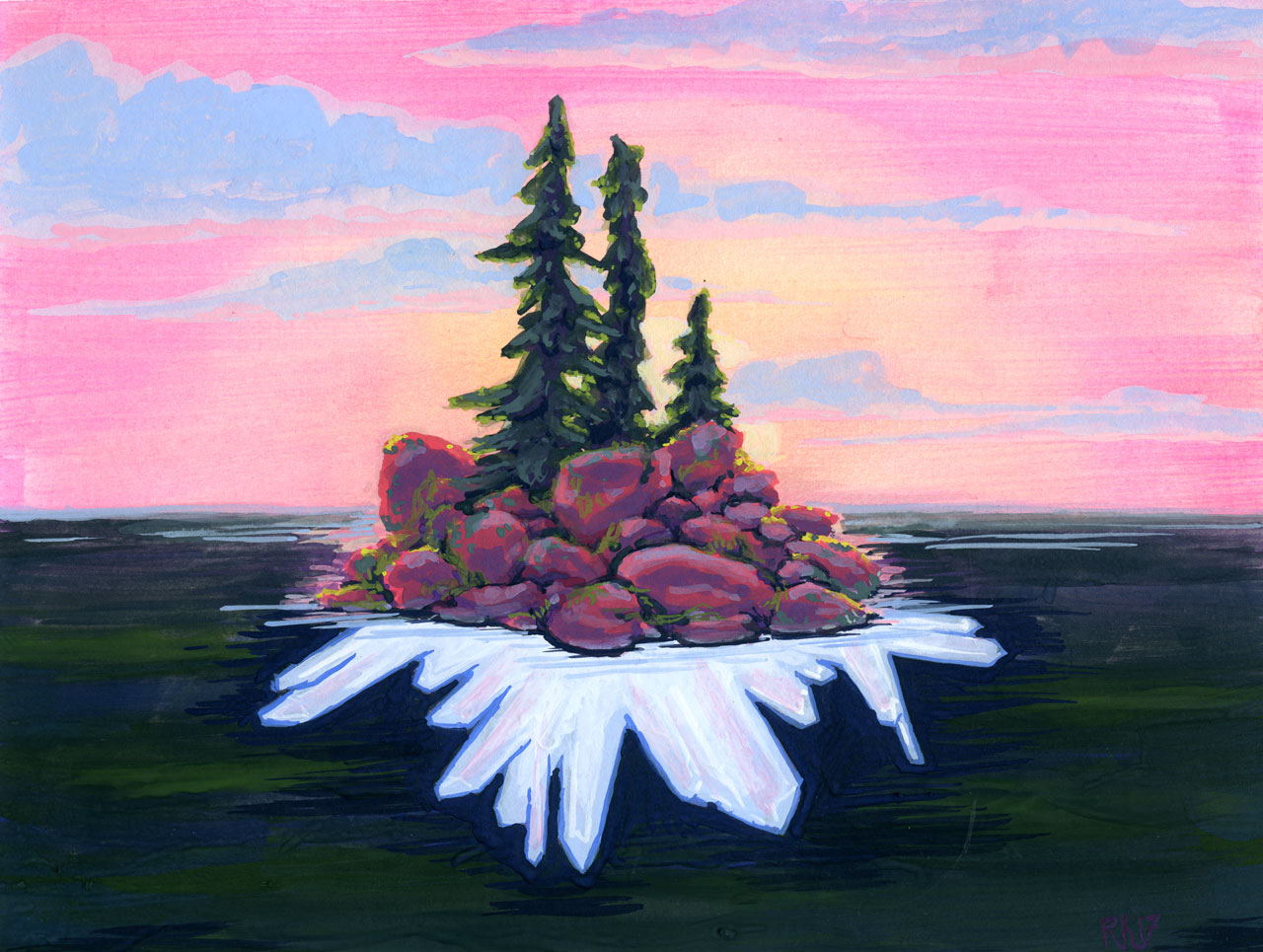 Sunset Crystal Island